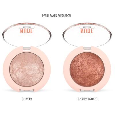 GOLDEN ROSE Nude Look Matte & Pearl Baked Eyeshadow